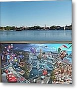 Walt Disney World Cars 2 Digital Art Composite 02 Metal Print