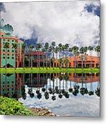 Walt Disney World Swan Hotel  Metal Print