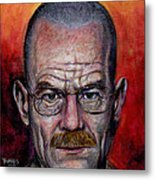 Walter White Metal Print by Mark Tavares