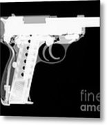Walther P38 Reverse Metal Print