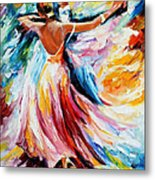 Waltz - Palette Knife Oil Painting On Canvas By Leonid Afremov Metal Print