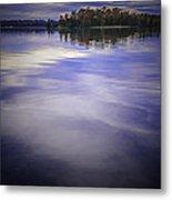 Wanigan View Of Au Sable River Metal Print