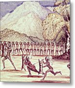 War Dance, Illustration From The Albert Nyanza Great Basin Of The Nile By Sir Samuel Baker, 1866 Wc Metal Print