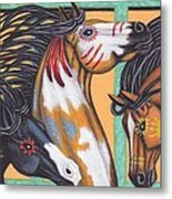 War Horse Family Metal Print