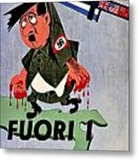 War Poster - Ww2 - Out With The Fuhrer Metal Print