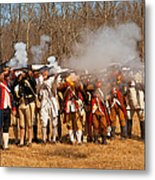 War - Revolutionary War - The Musket Drill Metal Print by Mike Savad
