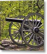 War Thunder - 5th United States Artillery Hazletts Battery - Little Round Top Gettysburg Spring Metal Print