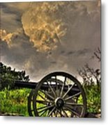 War Thunder - The Clouds Of War 2a - 4th New York Independent Battery Above Devils Den Gettysburg Metal Print