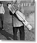 War Time On The Golf Course Metal Print