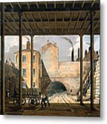 Warehouses Etc At The End Of The Tunnel Metal Print