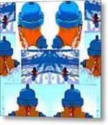 Warhol Firehydrants Metal Print