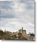 Warkworth Castle Above River Coquet Metal Print