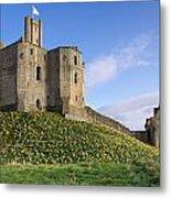 Warkworth Castle In Spring Metal Print
