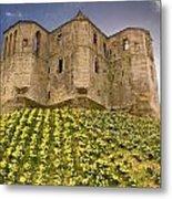 Warkworth Castle In The Sky Metal Print