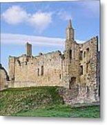 Warkworth Castle Panorama Metal Print