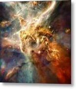 Warm Carina Nebula Pillar 3 Metal Print by Jennifer Rondinelli Reilly - Fine Art Photography