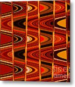 Warm Colors Lines And Swirls Abstract Metal Print