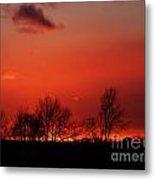 Warm January Sunset Metal Print