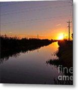 Warm Rural Sunset Metal Print