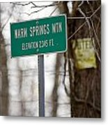 Warm Springs Mountain  Metal Print