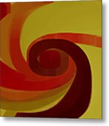 Warm Swirl Metal Print
