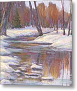 Warm Winter Reflections Metal Print by Billie Colson