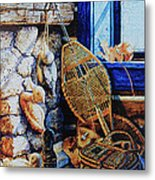 Warm Winter Wishes Metal Print