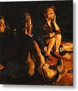 Warmth Of The Campfire Metal Print