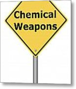 Warning Sign Chemical Weapons Metal Print