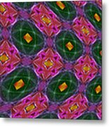 Warped Kaleidoscopic Lattice Metal Print