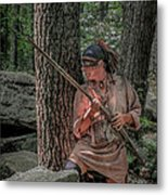 Warrior Stepping From Cover Metal Print by Randy Steele