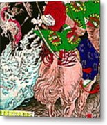 Warrior Tada No Manchu 1880 Metal Print