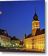Warsaw By Night Metal Print