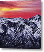 Wasatch Sunrise 3x1 Metal Print by Chad Dutson