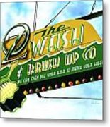 Wash And Brush Up Co. Metal Print