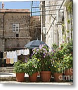 Washday In Dubrovnik Metal Print