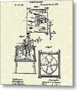 Washing Machine 1887 Patent Art Metal Print by Prior Art Design
