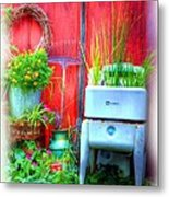Washing Machine Art Metal Print