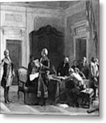 Washington And Lafayette Metal Print