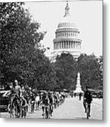 Washington Bicycle Parade Metal Print