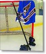 Washington Capitals Blue Away Hockey Jersey Metal Print