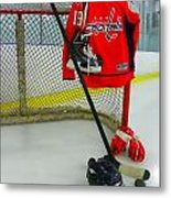 Washington Capitals Nicklas Backstrom Home Hockey Jersey Metal Print