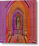 Washington Cathedral Light Show Metal Print