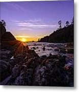 Washington Coast Sunset Dusk Metal Print