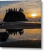 Washington Coast Tranquility Metal Print