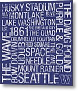 Washington College Colors Subway Art Metal Print