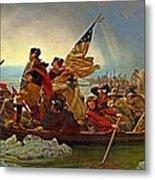 Washington Crossing The Delaware Emanuel Leutze 1851 Metal Print