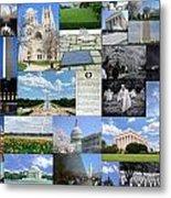 Washington D. C. Collage  Metal Print