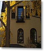 Washington D C Facades - Dupont Circle Neighborhood In Yellow Metal Print