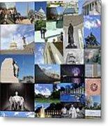 Washington D. C. Collage 3 Metal Print